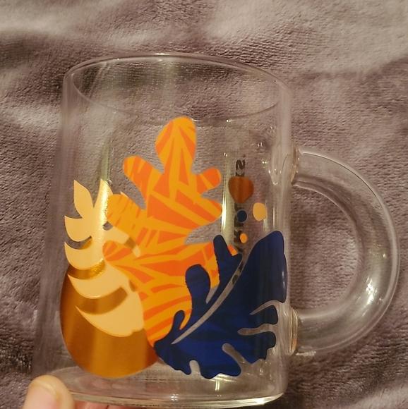 Starbucks fall glass mug